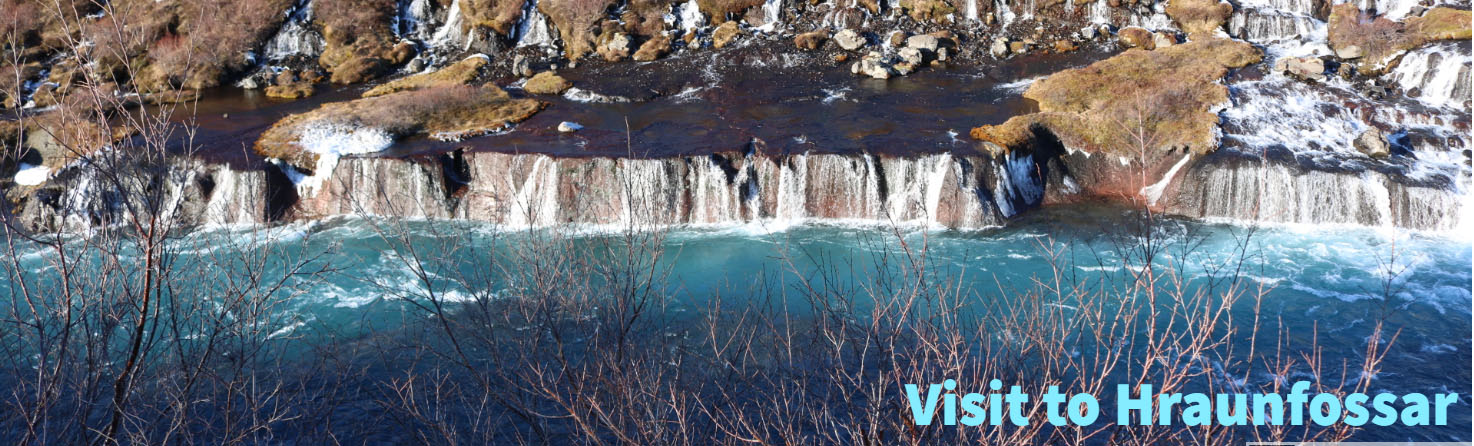 Midnight sun travel offers package tours to Hraunfossar